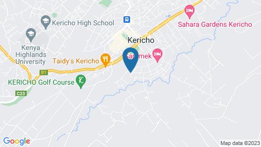 Comfort Guest House Kericho Map