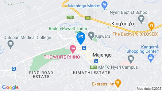 Eland Safari Hotel Nyeri Map