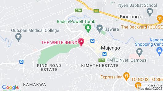 The White Rhino Hotel Map
