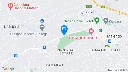 Westwood Hotel Nyeri Map