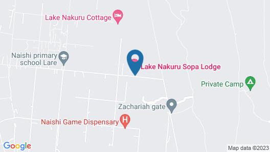 Lake Nakuru Sopa Lodge Map