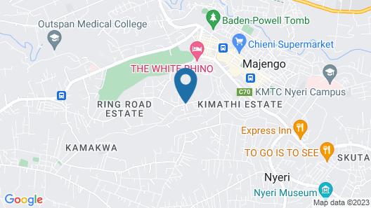 Prestige Hotel & Club Nyeri Map