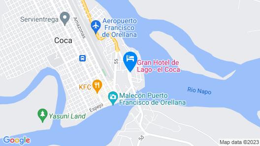 GRAN HOTEL DE LAGO EL COCA Map