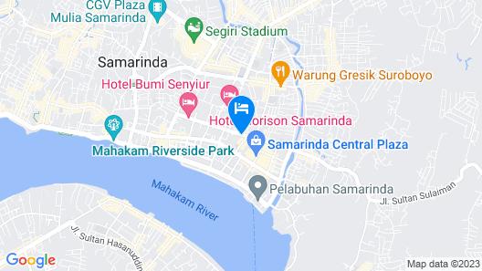 Aston Samarinda Hotel and Convention Center Map