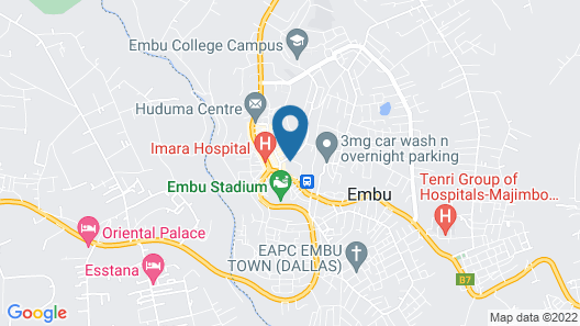 Baraka Guest House Map