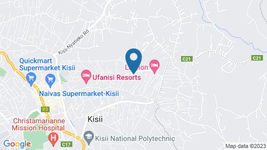 La Zion Hotel Map