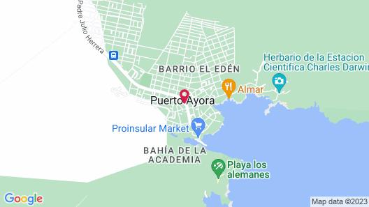 Hotel Coloma Galapagos Map