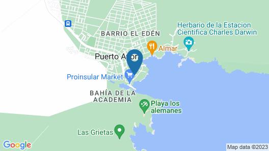 Casa Marina Galapagos Map
