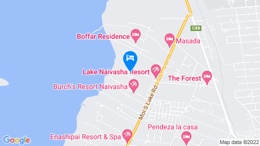 Lake Naivasha Resort Map