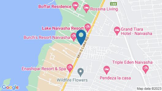 Burch's Resort Naivasha Map