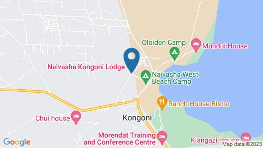 Naivasha Kongoni Lodge Map