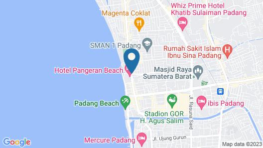 Hotel Pangeran Beach Map