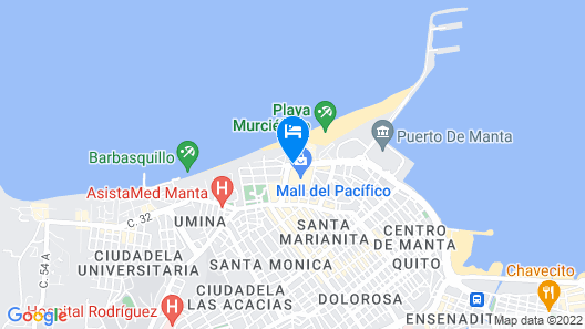 Oro Verde Manta Map