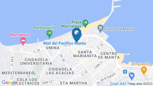 Hotel Mar Azul Map