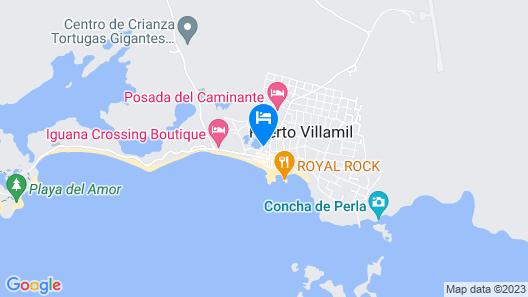 Hotel La Laguna Galapagos Map