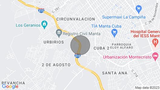 House With Guardian IN Manta VIA Circunvalación 10 MIN Playa Map