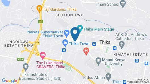 Klub Liquid Cash Thika Map