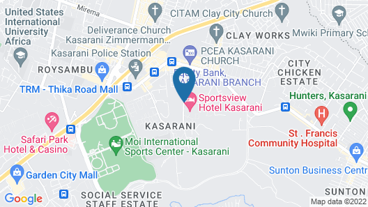 Sportsview Hotel Kasarani Map