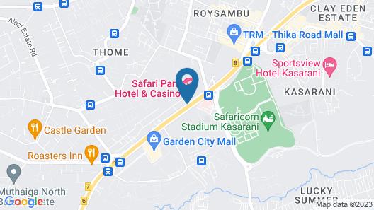 Safari Park Hotel And Casino Map