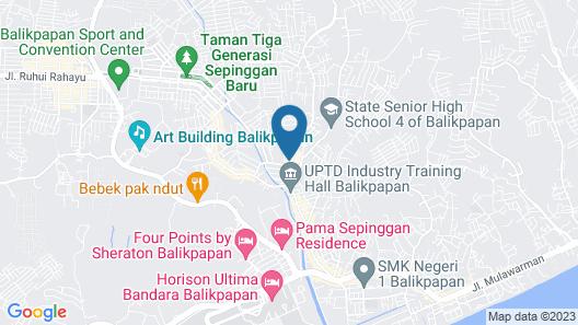 KoolKost near Sepinggan Airport Balikpapan Map