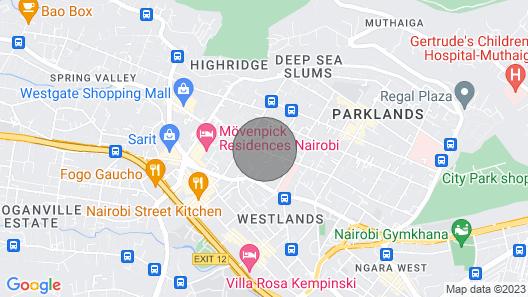 Conviniently Borders Westlands/parklands Map