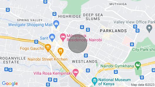 Parklands Highrise Apartment, 1st Avenue Map