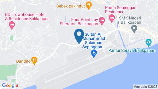 Grand Tjokro Balikpapan Map