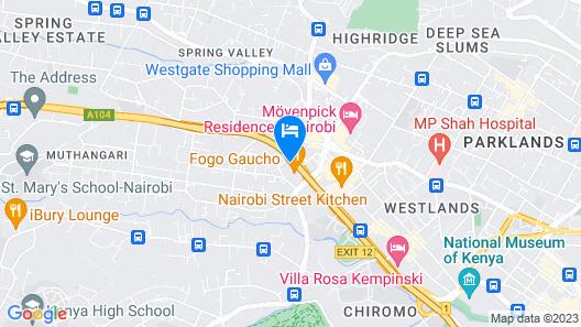 Park Inn by Radisson Nairobi Westlands Map