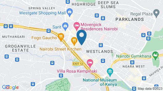 Golden Tulip Westlands Nairobi Map