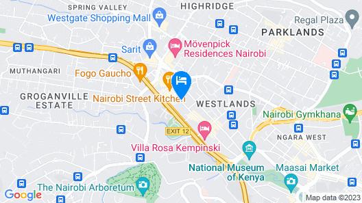 PrideInn Hotel Westlands Map