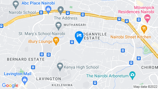 Executive Residency by Best Western Nairobi Map