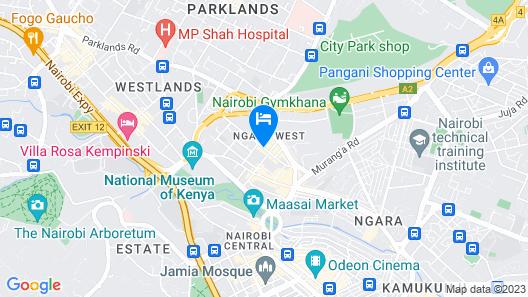Mooreland Hotel Nairobi Map