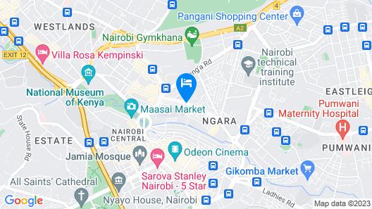 Khweza Bed & Breakfast Map