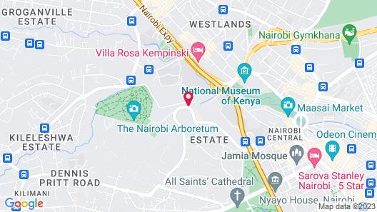 Radisson Blu Hotel & Residence, Nairobi Arboretum Map