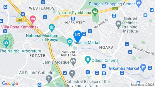 Kahama Hotel Map
