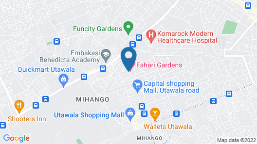 Fahari Gardens Hotel Map