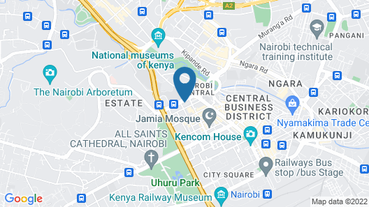 Nairobi Safari Club Map