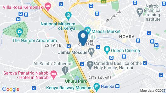 Kenya Comfort Hotel Map