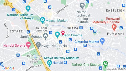 Nairobi Kitale Hotel Map