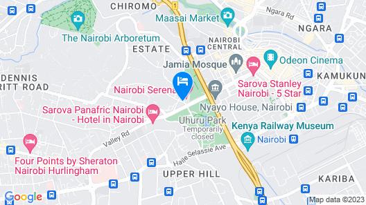Nairobi Serena Hotel Map