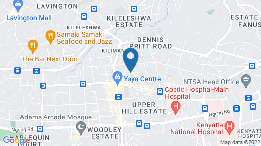 Royal Tulip Canaan Nairobi Map