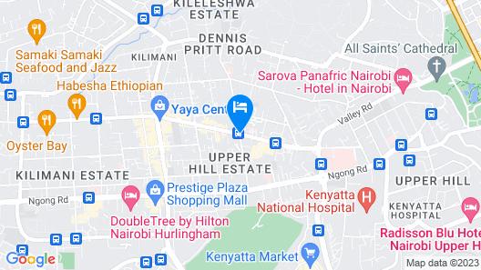Four Points By Sheraton Nairobi Hurlingham Map