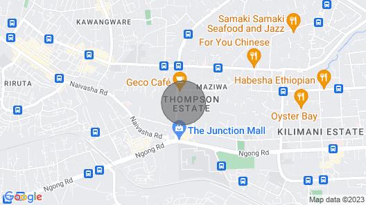 Wasili Luxury Homestay In Upmarket Nairobi Map