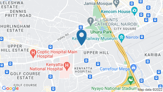 Town Lodge Upper Hill Nairobi Map