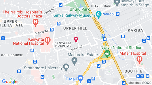 Crowne Plaza Hotel Nairobi, an IHG Hotel Map