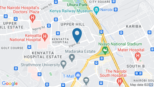 Radisson Blu Hotel Nairobi Upper Hill Map