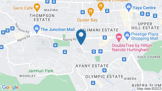 Mash Park Hotel Nairobi Map