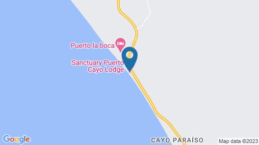 Sanctuary Puerto Cayo Lodge Map
