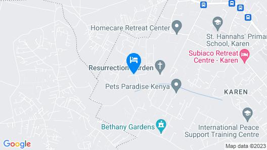 Anga Afrika Luxury Boutique Camp Nairobi Map