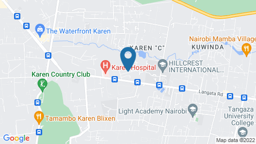 Milimani Backpackers Map